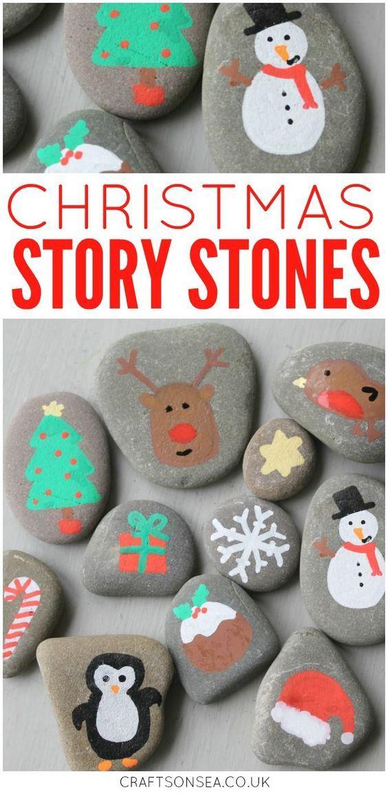 Christmas Rock Painting Designs.Christmas Crafts Christmas Rock Painting Ideas For Kids