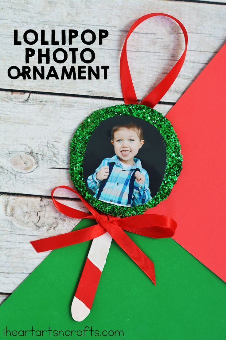 Christmas Crafts : Lollipop Photo Ornament Craft For Kids ...
