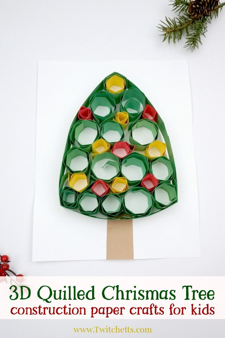 Christmas Crafts Quilling Christmas Tree Paper Quilling For Kids