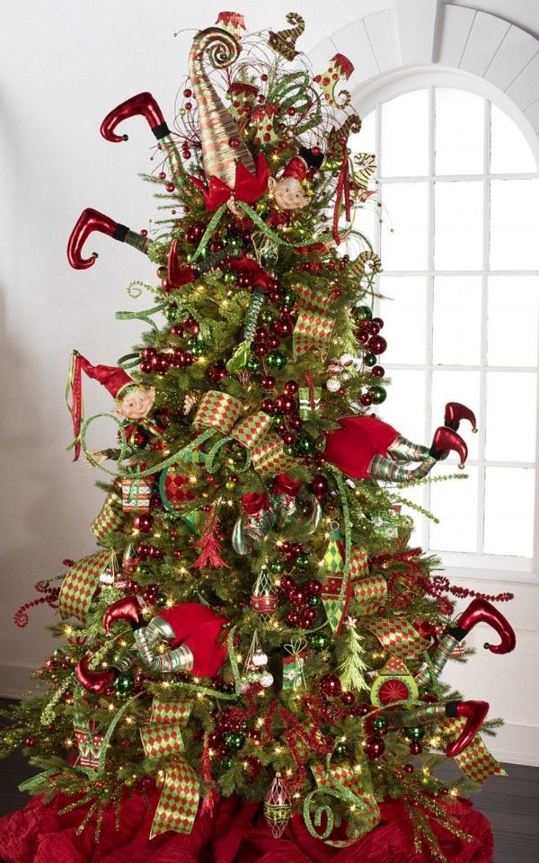 Description. Elf Christmas tree - Cristhmas Tree Decorations Ideas : 60 Gorgeously Decorated Christmas