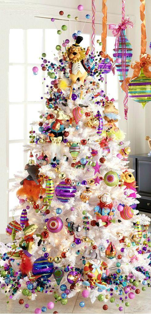 Non Traditional Christmas Tree Ideas.Cristhmas Tree Decorations Ideas Using Pink Purple And