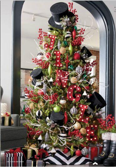 Description. na Cute Christmas tree idea using top hats ...