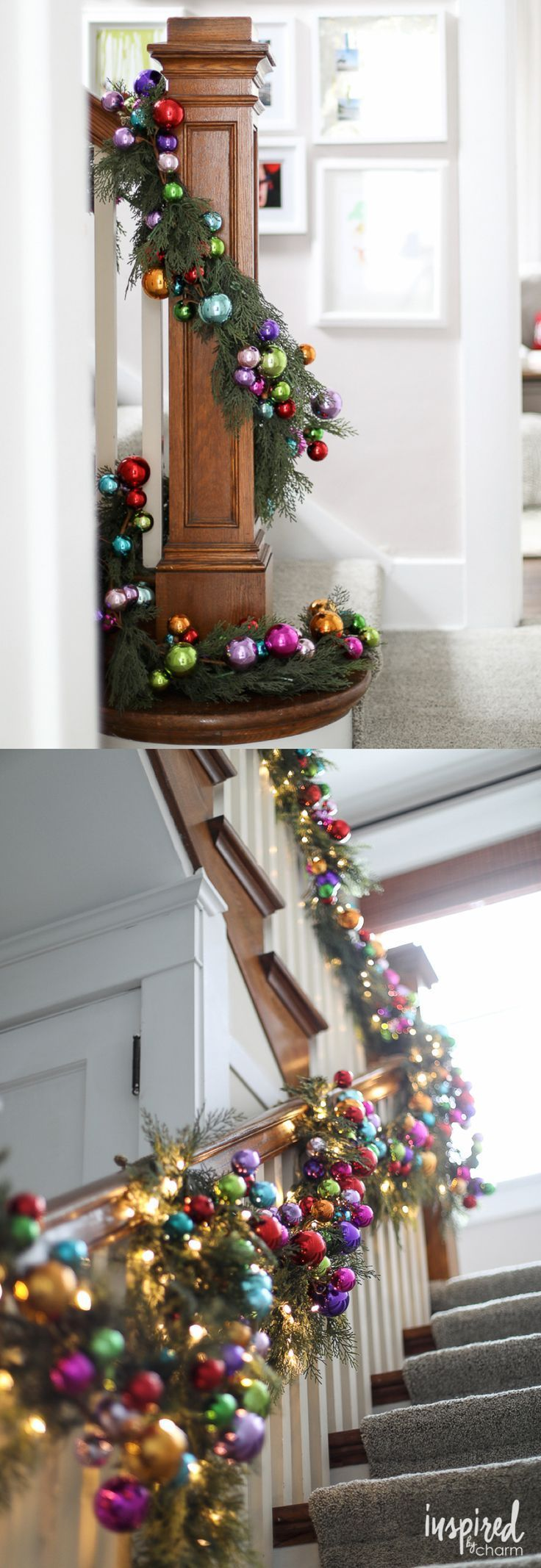 Christmas Decorating Ideas Colorful Christmas Ornament And Pine