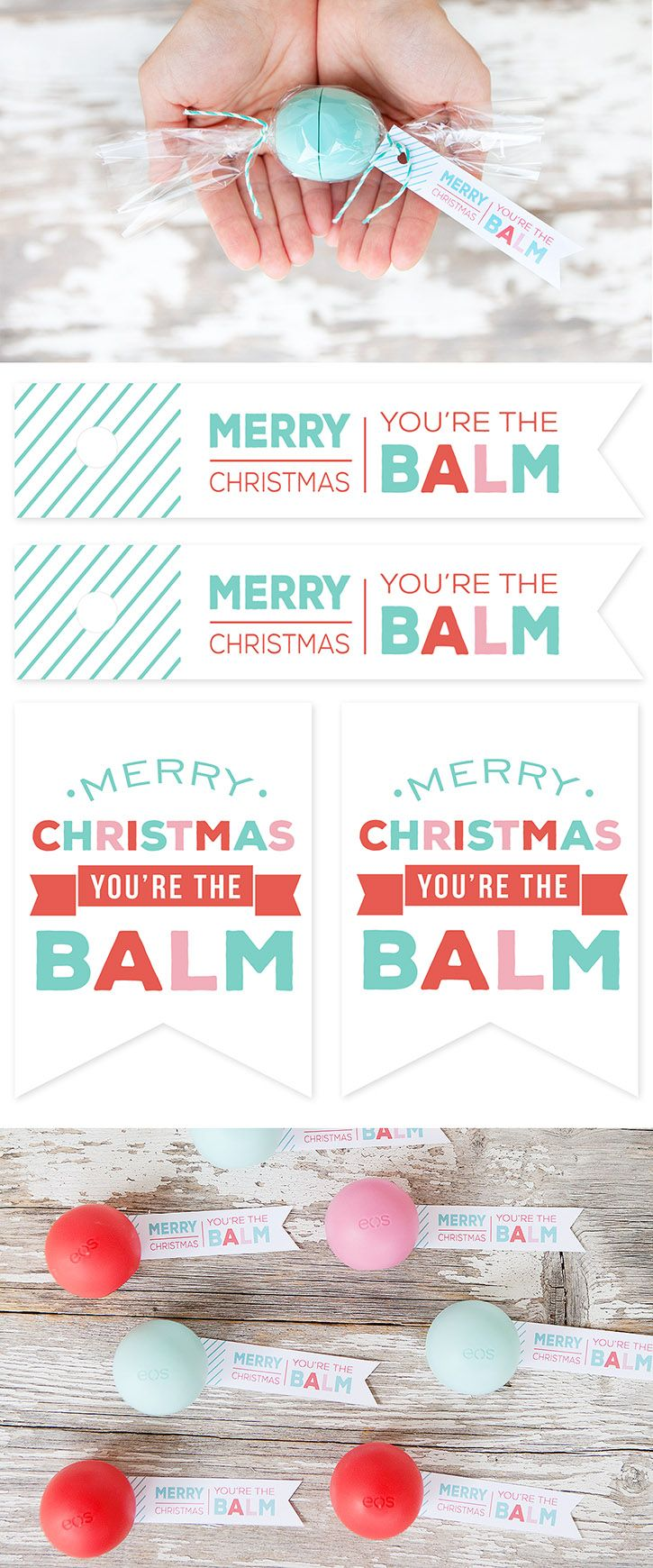 graphic about You're the Balm Free Printable named Xmas Items Tips : EOS Lip Balm \