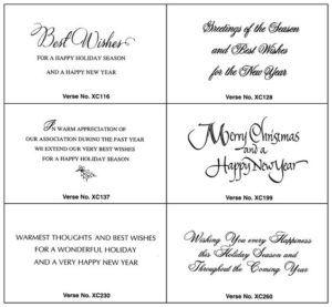 photograph relating to Printable Sayings titled Xmas Card Greetings Company Sayings : Free of charge Printable