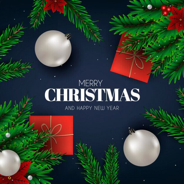 Wishes with Christmas Tree on Greeting Card-Images