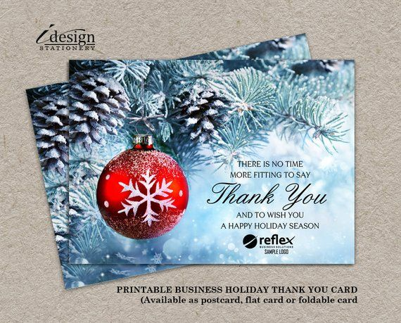 Description. Business Holiday Cards | Printable Christmas ...