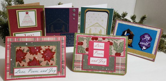Handmade Religious Christmas Cards.Christmas Card Greetings Business Sayings Homemade
