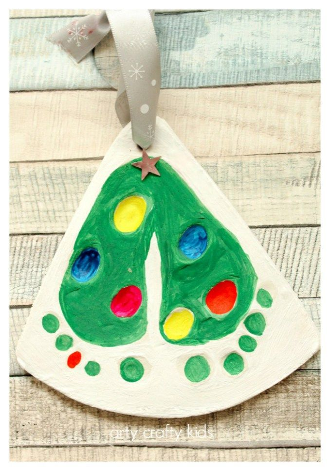 Christmas Crafts Baby Footprints Christmas Tree Ornament Ask