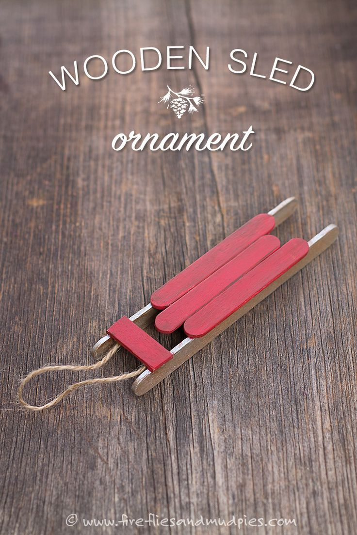 Christmas Crafts How To Make A Wooden Popsicle Stick Sled Ornament