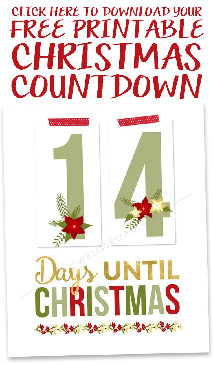graphic relating to Free Printable Christmas Crafts called Xmas Crafts : Printable Xmas Countdown - Talk to