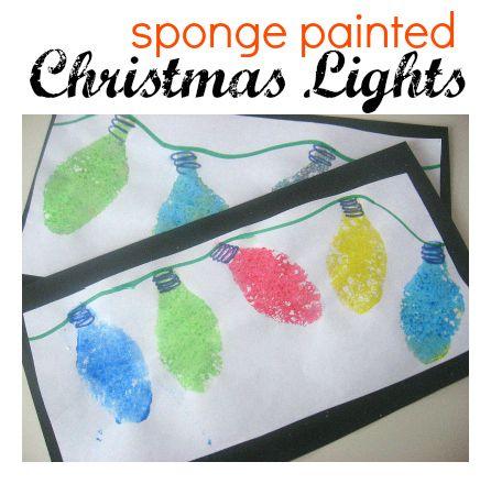 Christmas Crafts Sponge Painted Christmas Lights Ask Christmas