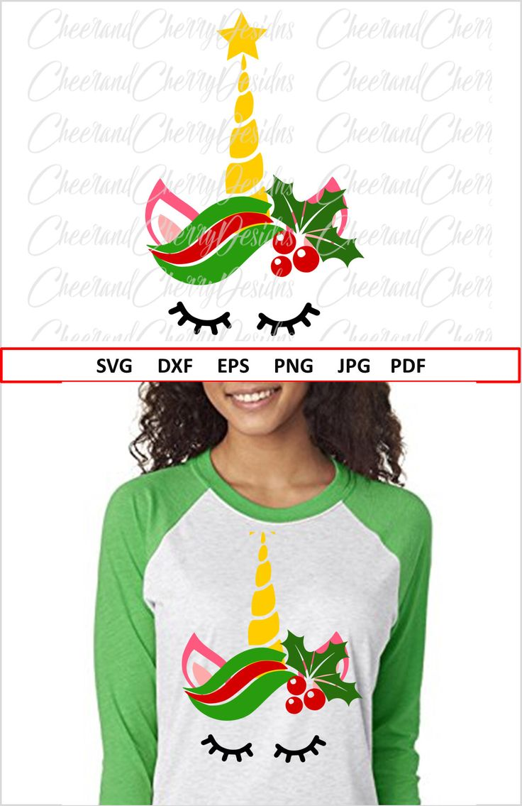Christmas DIY : Christmas Unicorn SVG file Unicorn face svg