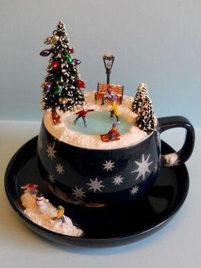 Christmas Floating Tea Cups.Christmas Diy Image Result For Floating Tea Cup Christmas