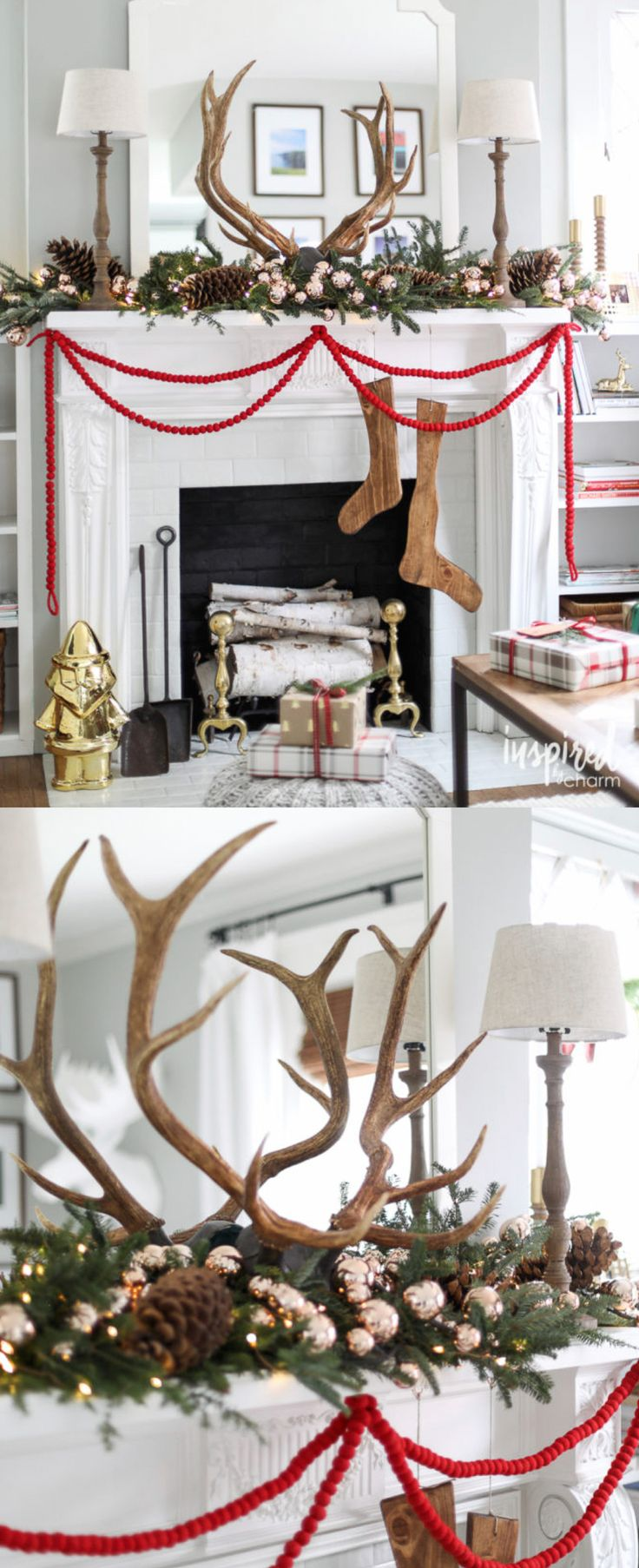 Christmas Decorating Ideas Modern Farmhouse Style Mantel More