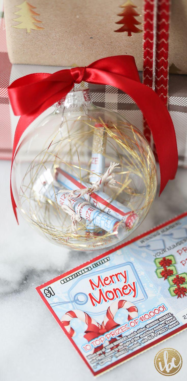 Christmas Decorating Ideas : Rolled up lottery tickets make ...