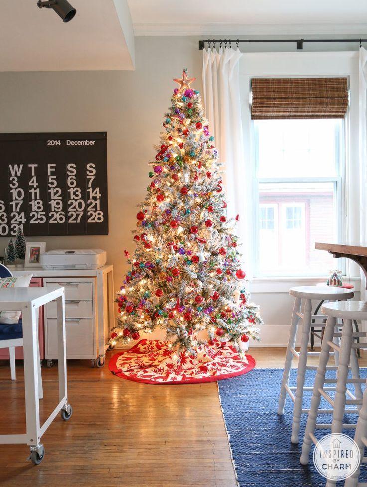 Christmas Decorating Ideas Rainbow Ornament Garland Christmas Tree