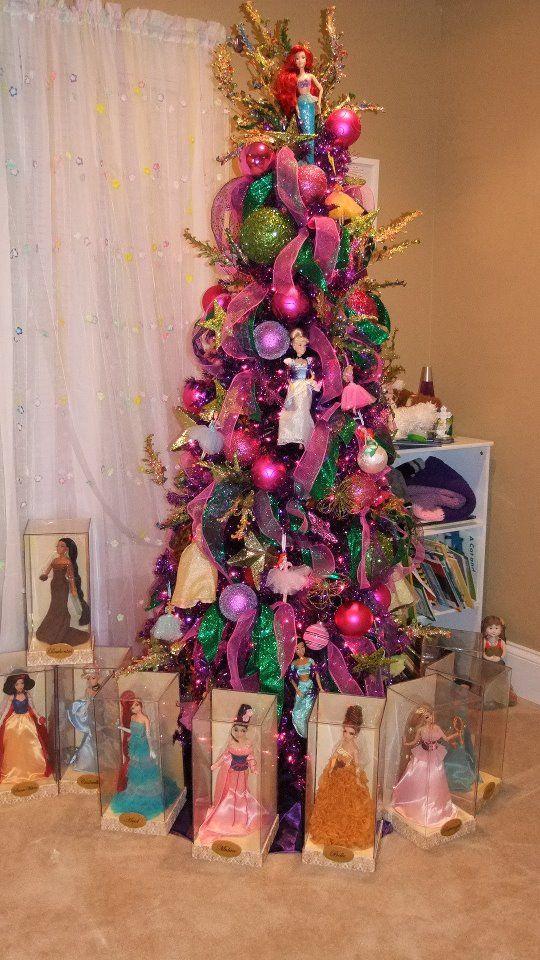 Cristhmas Tree Decorations Ideas Disney Princess Christmas Tree