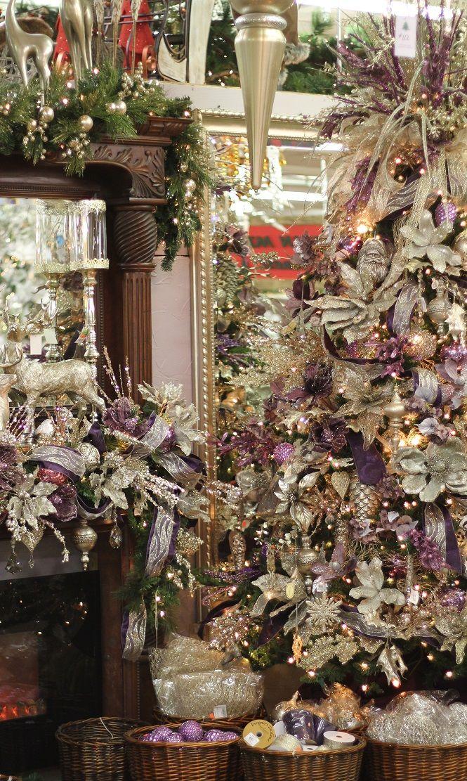 Description. Plum & Platinum Christmas Tree