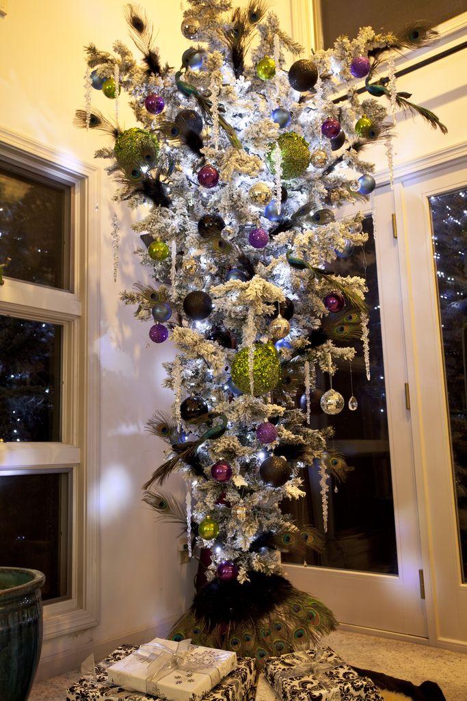 Upside Down Christmas Tree Ideas.Cristhmas Tree Decorations Ideas Peacock Upside Down