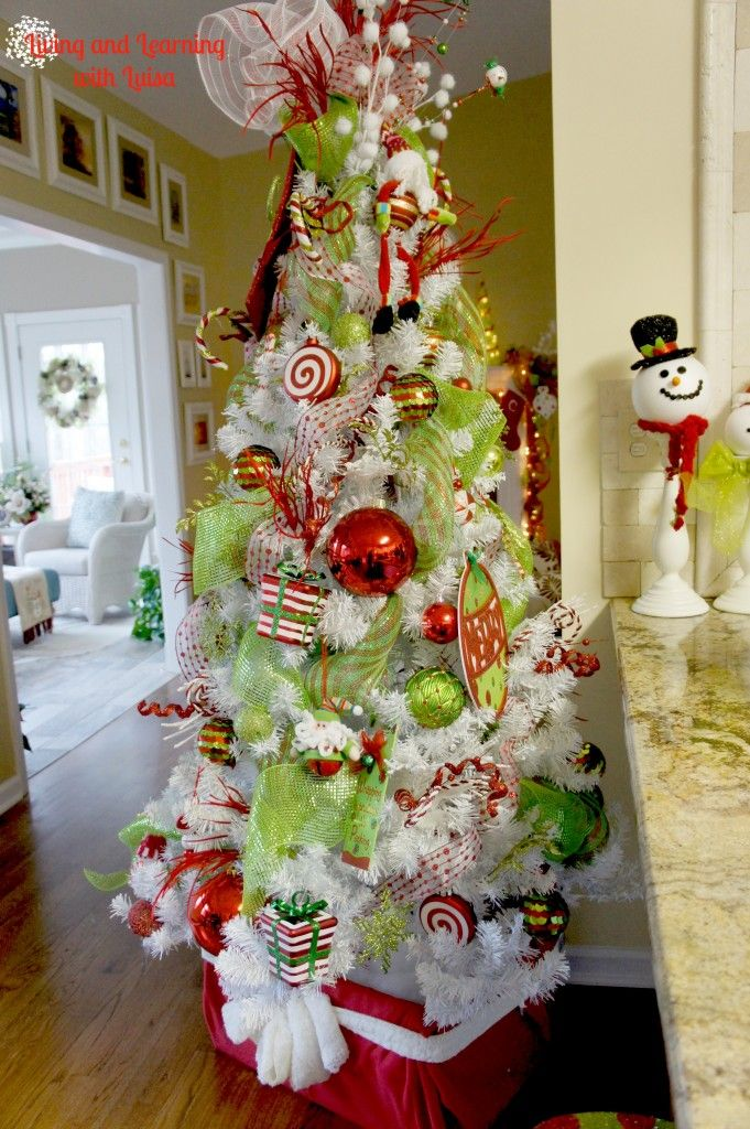 Description. whimsical christmas tree – LOVE the colors ...