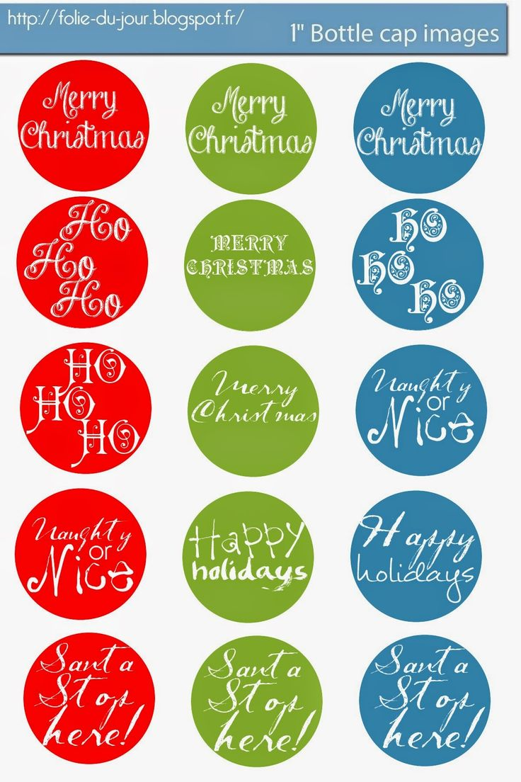 picture regarding Bottle Cap Images Free Printable named Merry Xmas Rates : Totally free Bottle Cap Shots: Totally free