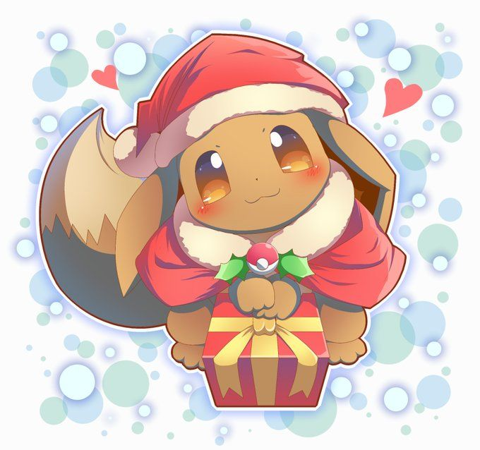 Christmas Eevee.Merry Christmas Wishes Eevee Wishes Merry Christmas To
