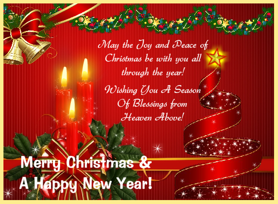Sweet magic of Xmas Greeting Card Pictures Online in Red