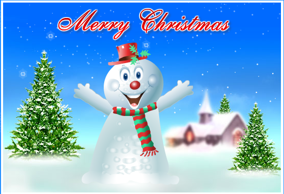 Dancing Santa and Cartoon singing songs to Wish Christmas-New_Year