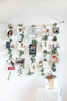 Christmas Crafts Diy Eucalyptus Garland Christmas Card Display
