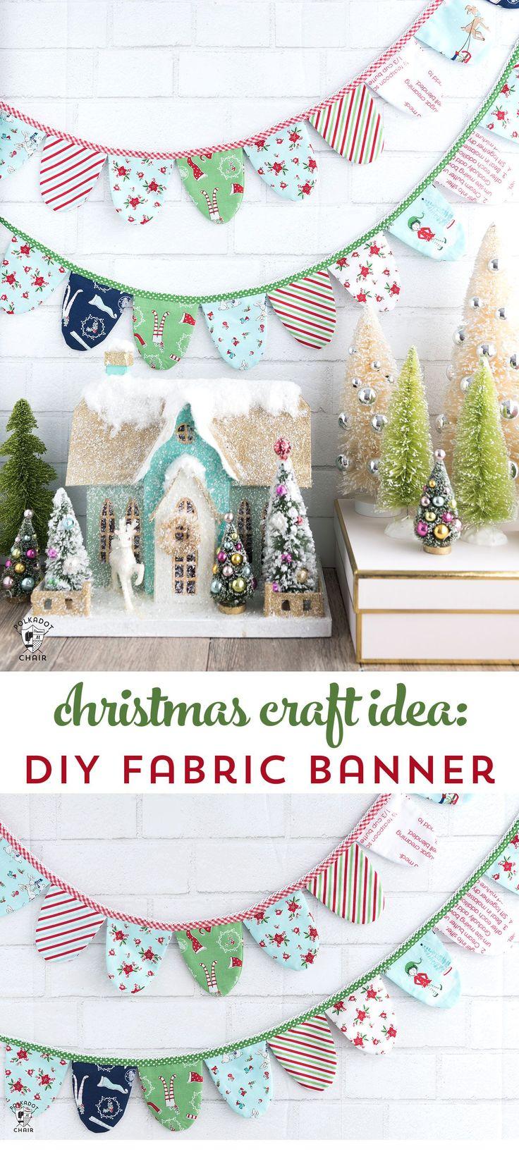 Christmas DIY : DIY Scallop Fabric Banner & Cricut Maker Giveaway