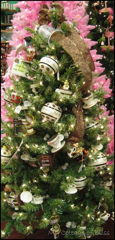 Coffee Christmas Tree Ornaments.Cristhmas Tree Decorations Ideas For The Coffee Lovers