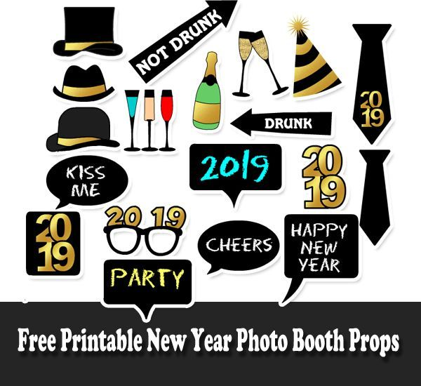 photograph regarding Free Printable Photo Booth Props known as Fresh new Yr 2019 : Cost-free Printable Fresh new 12 months 2019 Photograph Booth