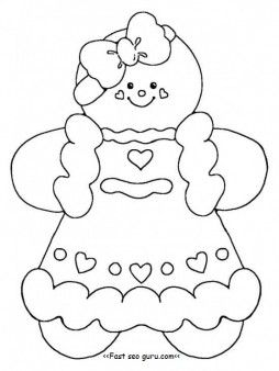 Free Printable Gingerbread Man Coloring Pages For Kids | 338x254