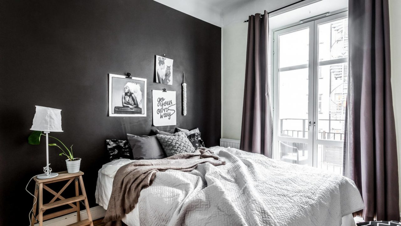 bedroom accent dark color